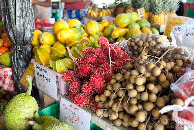 Tropical fruit at a local Oahu farmers market