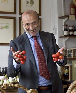 Carlo Petrini Holding Tomatoes - Eco quotes