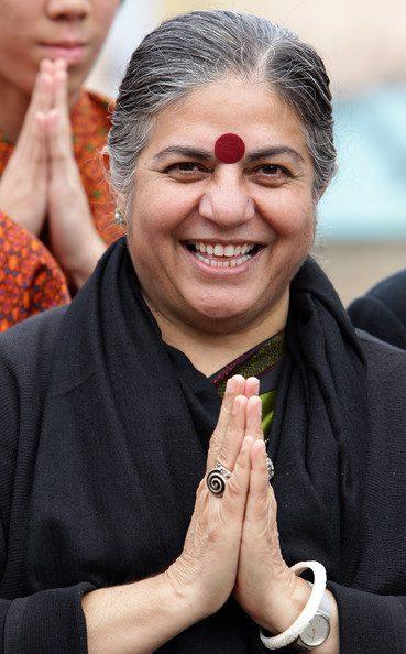 Vananda Shiva In Prayer - Eco Quotes